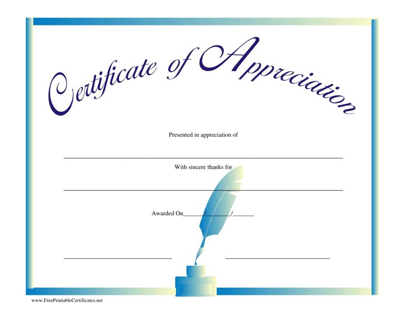 Appreciation Certificate Template Download Printable Pdf Templateroller