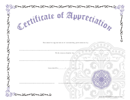 """Purple Certificate of Completion Template"""