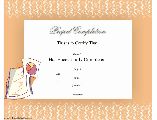 """""""Certificate of Project Completion Template"""" Download Pdf"""