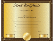 """Common Stock Owner Certificate Template"""