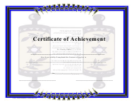 """""""Jewish Course Completion Certificate Template"""""""