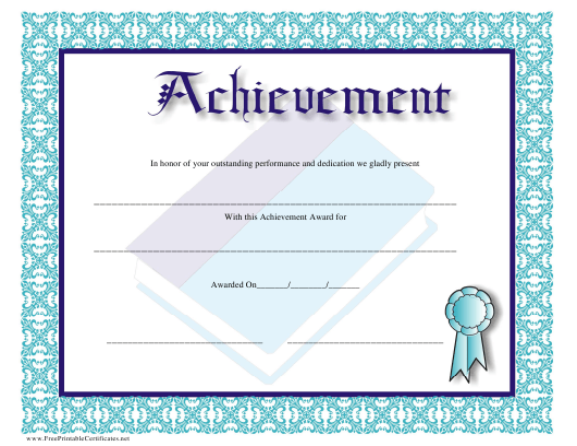 achievement award certificate template download printable pdf