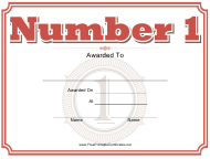 """Number One Certificate Template"""