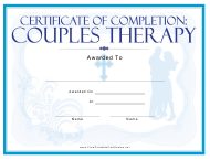 """Religious Couples Therapy Certificate Template"""