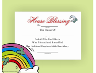 """House Blessing Certificate Template"""