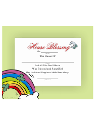 House Blessing Certificate Template