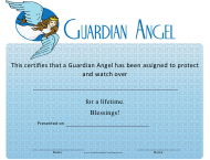 """Guardian Angel Certificate Template"""