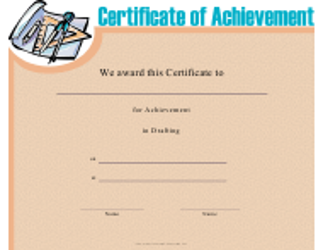 """Drafting Achievement Certificate Template"""