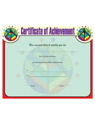International Baccalaureate Achievement Certificate Template