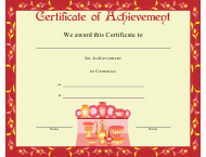 """Ceramics Achievement Certificate Template"""