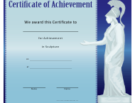 """Sculpture Achievement Certificate Template"""