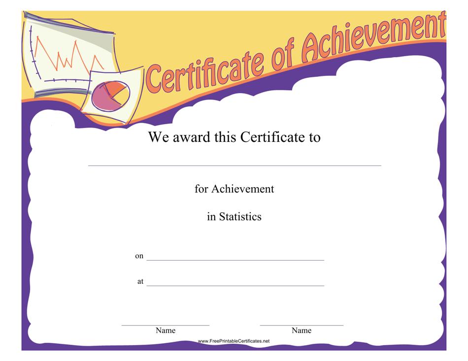 template certificate achievement templateroller statistics