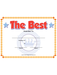 The Best Certificate Template