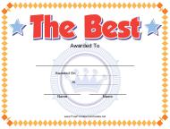"""The Best Certificate Template"""