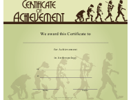 """Anthropology Achievement Certificate Template"""