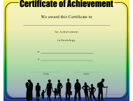 """Sociology Achievement Certificate Template"""