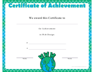"""Web Design Achievement Certificate Template"""