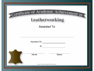 """Leatherworking Academic Achievement Certificate Template"""