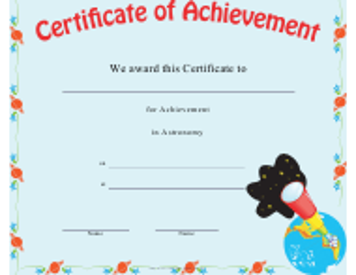 """Astronomy Achievement Certificate Template"""