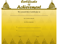 """Government Achievement Certificate Template"""