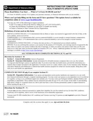 VA Form 10-10EZR Heath Benefits Update Form