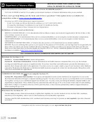VA Form 10-10EZR Heath Benefits Update Form
