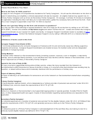 VA Form 10-10cg Application for Comprehensive Assistance for Family Caregivers Program