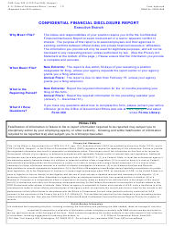 OGE Form 450 Confidential Financial Disclosure Report