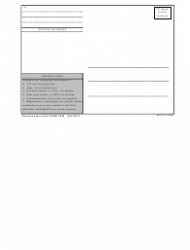 DA Form 3955 Change of Address and Directory Card, Page 2