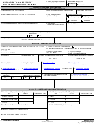 """Opm Form Sf-182 """"Authorization, Agreement and Certification of Training"""""""