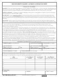 DD Form 2656-8 Survivor Benefit Plan (SBP) - Automatic Coverage Fact Sheet