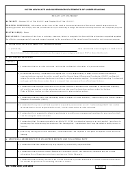 DD Form 2909 Victim Advocate And Supervisor Statements Of Understanding