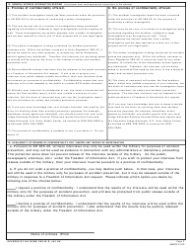 DA Form 285-w-r Accident Report Summary of Witness Interview, Page 2