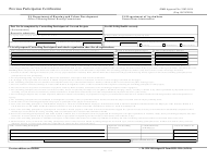 "Form 2530 ""Previous Participation Certification"""