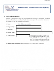 Airworthiness Determination Form