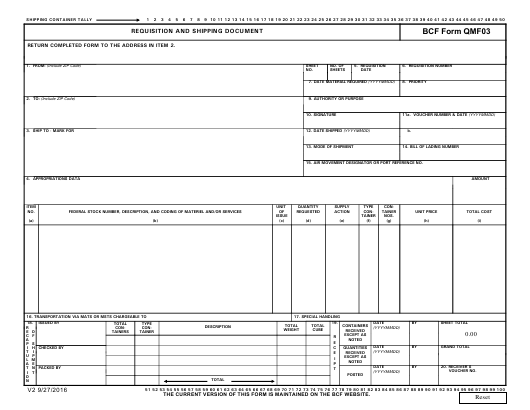 """""""Requisition and Shipping Document Form - Bcf Solutions"""" Download Pdf"""
