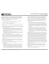 PS Form 3877 Firm Mailing Book for Accountable Mail