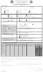 "Form 1 (DNR5619) ""Application for a Permit"" - Ohio"