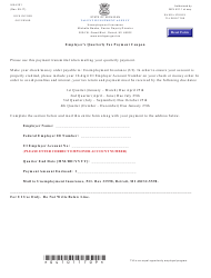 Form UIA 4101 Employer's Quarterly Tax Payment Coupon - Michigan