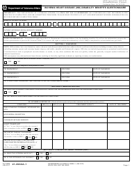 VA Form 21-0960a-1 Ischemic Heart Disease Disability Benefits Questionnaire