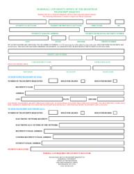 Transcript Request Form - Marshal University