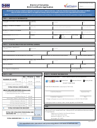 """Form A """"Birth Certificate Application"""" - Washington, D.C., Page 2"""