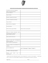 """""""Replacement Certificate Form for Lost/Stolen Foreign Birth Registration Certificate"""" - Ireland, Page 2"""