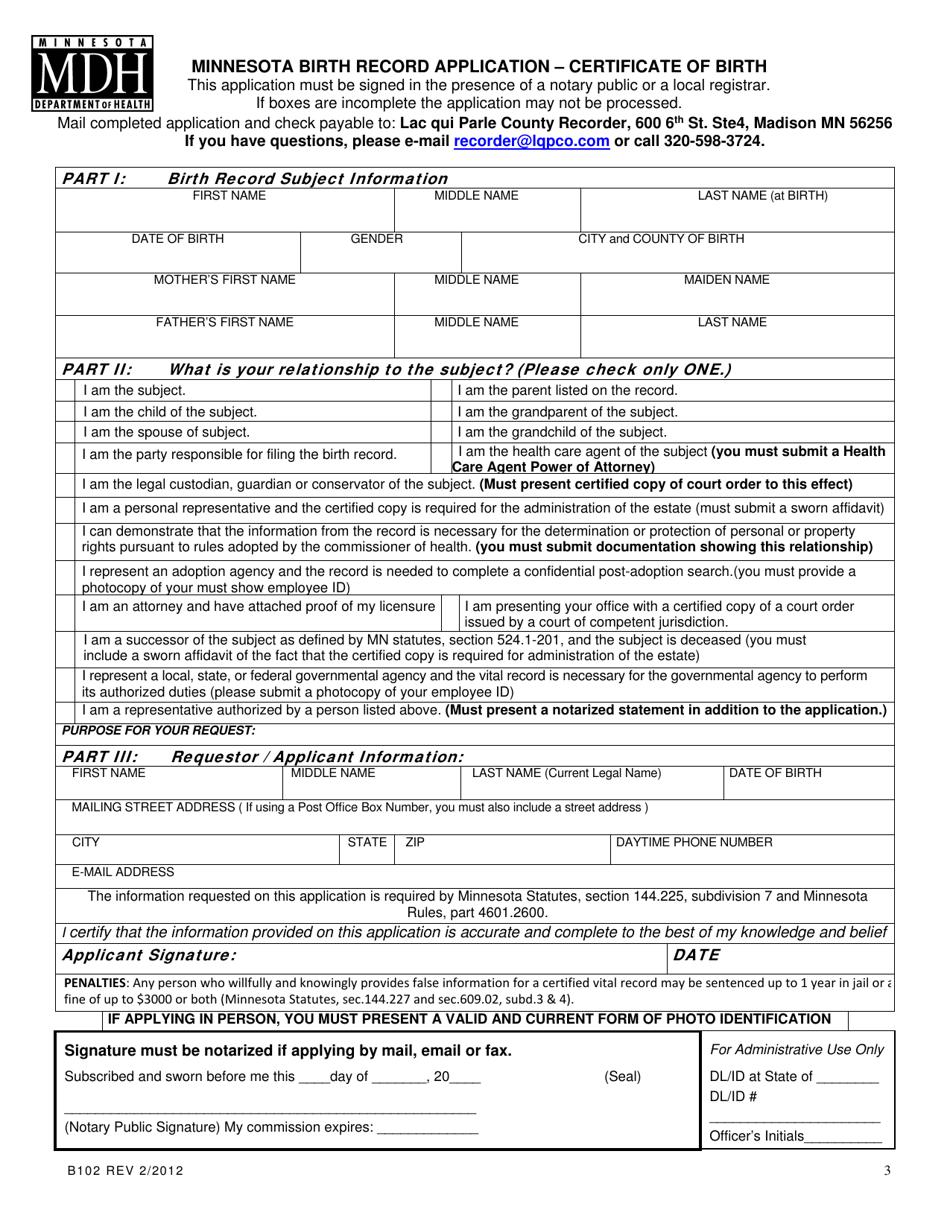 birth certificate minnesota form application pdf fill printable templateroller template