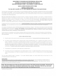 """Form ABT-6033 """"Quota License Drawing Entry Form"""" - Florida, Page 2"""