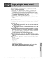 """Economic Development Worksheet"", Page 50"