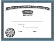 """Art History Academic Achievement Certificate Template"""