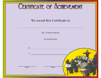 """Orchestra Achievement Certificate Template"""