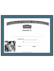 Chemistry Academic Achievement Certificate Template