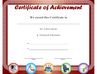 """Technical Education Achievement Certificate Template"""